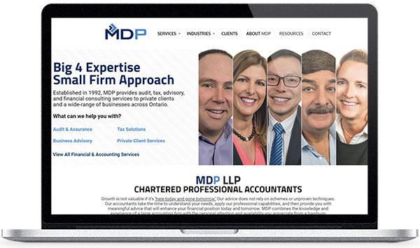 Accounting firm and accountant marketing services including SEO, website design, branding, online advertising, PR, and more.