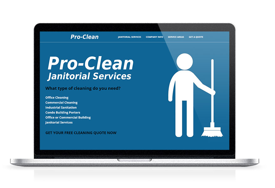 Cleaning company marketing services including SEO, website design, branding, online advertising, PR, and more.