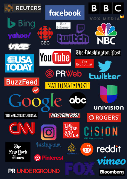 Professional social media, public relations and media services for B2B and B2C companies in USA and Canada.